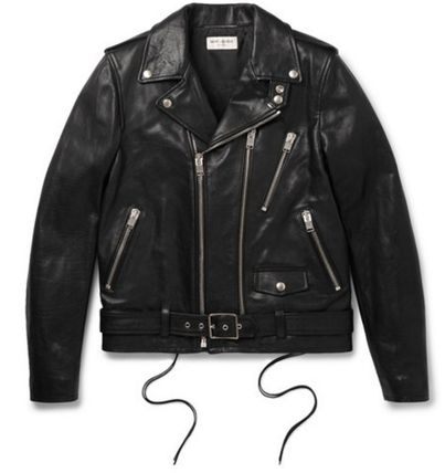 Only Saint Laurent LEATHER BIKER JACKET