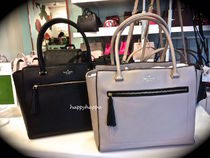 【kate spade】A4収納☆allynタッセル付きトートバッグ