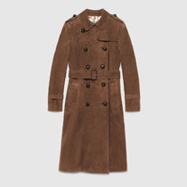 GUCCI(グッチ)☆Suede belted trench coat☆コート☆ブラウン系
