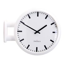 Timedeco Modern Double Clock Line(WH)
