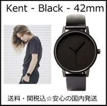 Simple Watch Co(シンプルウォッチカンパニー) アナログ腕時計 送料/税込【Simple Watch Co】本革☆Kent-Black/42mm♪国内発送
