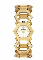 Tory Burch AMELIA WATCH, GOLD-TONE/IVORY, 25 X 29 MM