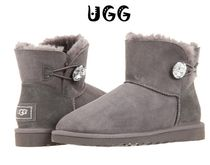 セール!UGG Mini Bailey Button Bling / Grey