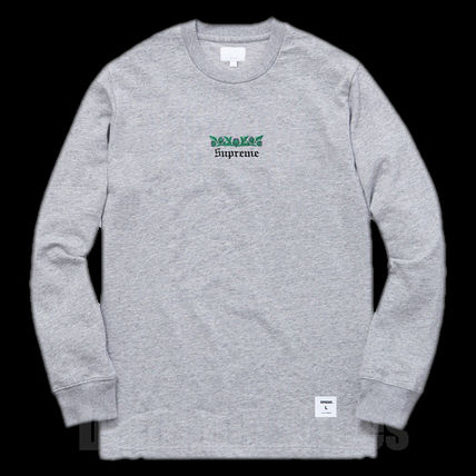FW16 SUPREME THISTLE L/S TEE GREY グレー S-XL 送料無料