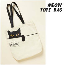 modcloth(モドクロス) トートバッグ meow tote bag ニャンコ 黒猫 トートバッグ