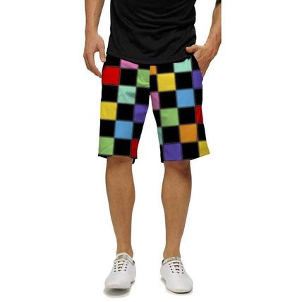 Loudmouth Golf メンズ・ボトムス 【レア柄】Loud Mouth Hollywoody Square Blackショートパンツ