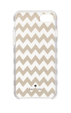 【国内発送】 kate spade★Gold Chevron iPhone7 ケース