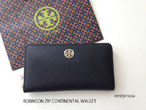 即発+激安☆TORY BURCH★ROBINSON ZIP CONTINENTAL 長財布*黒