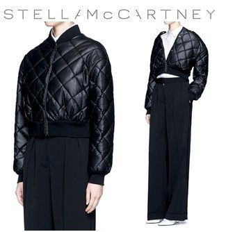 ◆STELLA MCCARTNEY◆QUILTED FAUX LEATHER CROPPED COAT