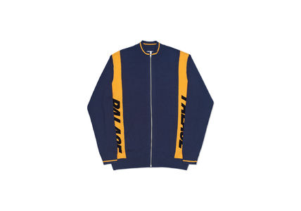 Place Skateboards Font Zip Knit Navy/Yellow
