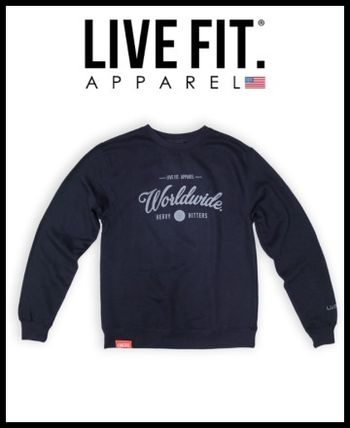 Live Fit★LVFT Worldwide HittersトレーナーNAVY【関税送料込】