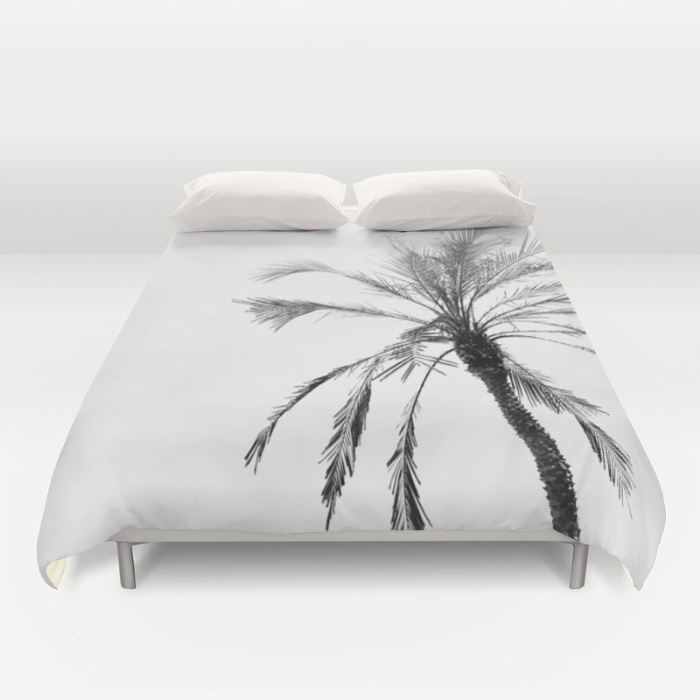 Society6◆掛け布団カバー◆Palm trees and black white
