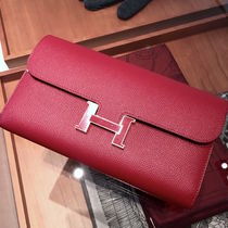 "2016""ROUGE GRENADExDORE""HERMES★Constance Portefeuille LONG"