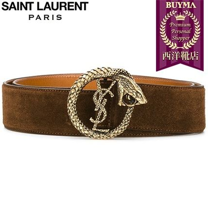 16/17秋冬入荷!┃SAINT LAURENT┃MONOGRAM SERPENT BELT