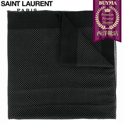 16/17秋冬入荷!┃SAINT LAURENT┃POLKA DOT PRINTED SCARF