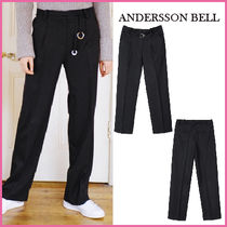 【ANDERSSON BELL】正規品16FW★OリングベルトパンツBLK/追跡付