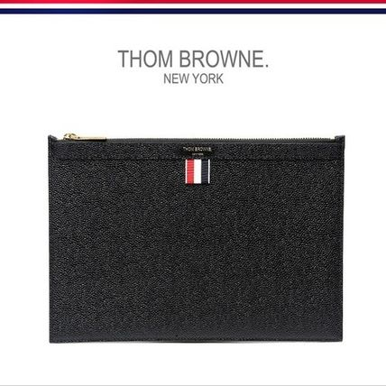 THOM BROWNE / genuine EMS/PEBBLE CALF Clutch Bag