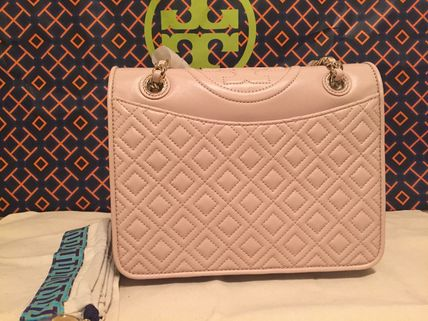 Tory Burch Leather Quilted Fleming バック 限定セール