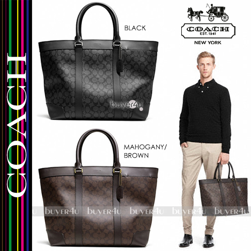 COACH★ブリーカートートBLEECKER SIGNATURE WEEKEND TOTE 70853