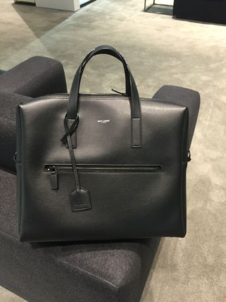 Saint Laurent bold briefcase black