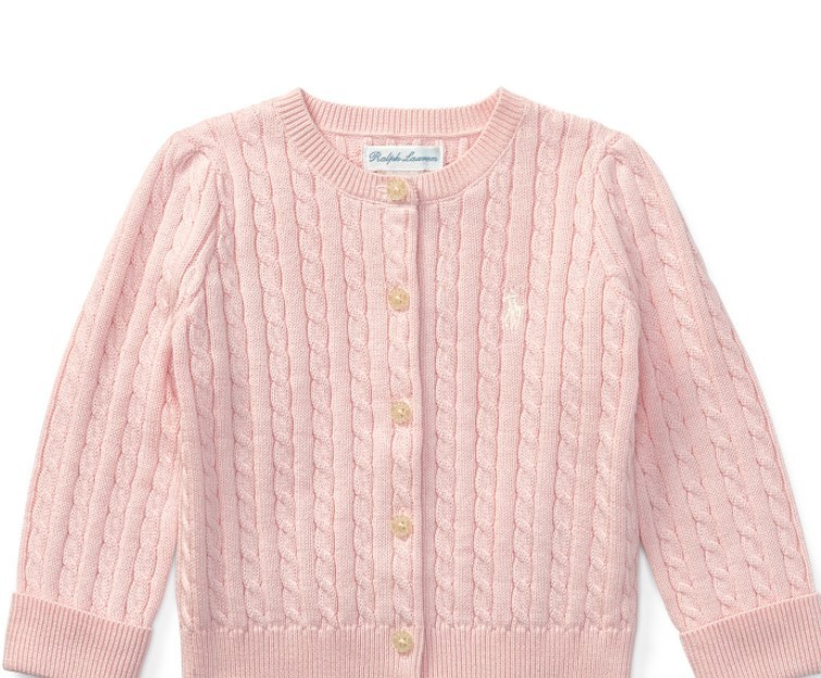 新作♪国内発送 CABLE-KNIT COTTON CARDIGAN girls 0~24M