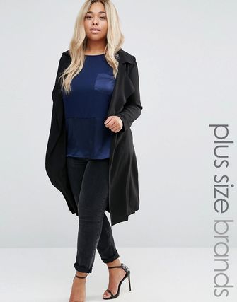 New Look Plus Waterfall Duster Coat