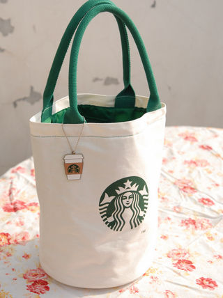 Storage perfect Starbucks tote bag bag