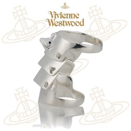 popular Vivienne Westwood armour ring silver