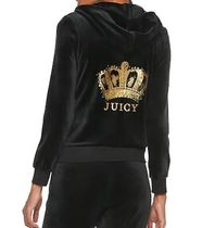 JUICY COUTURE(ジューシークチュール) パーカー・フーディ ☆JUICY COUTUREジューシークチュール ベロアセットアップ(黒)☆