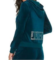 ☆JUICY COUTURE お洒落なベロアセットアップ(ブルーコーラル)☆