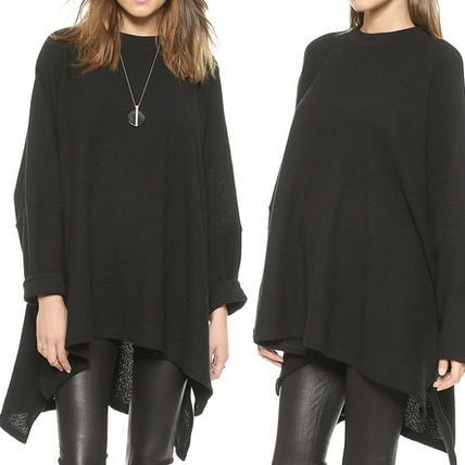 Oak knitted oversized poncho pullover