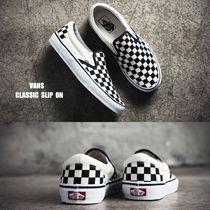 VANS★CLASSIC SLIP ON★BLACK&WHITE★チェック★兼用★22~30cm