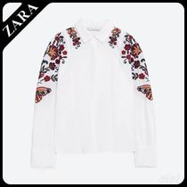 ☆★ZARA ザラ TRF★☆  FLORAL EMBROIDERED SHIRT