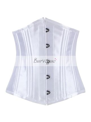 Burvogue powerful double reinforced steel born corset white