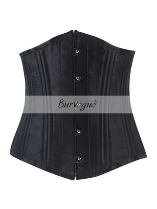 Burvogue powerful double reinforced steel born corset black