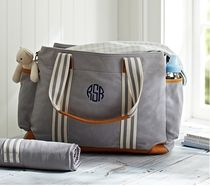 Pottery Barn Gray Classic Diaper Bag 送料無料 関税込