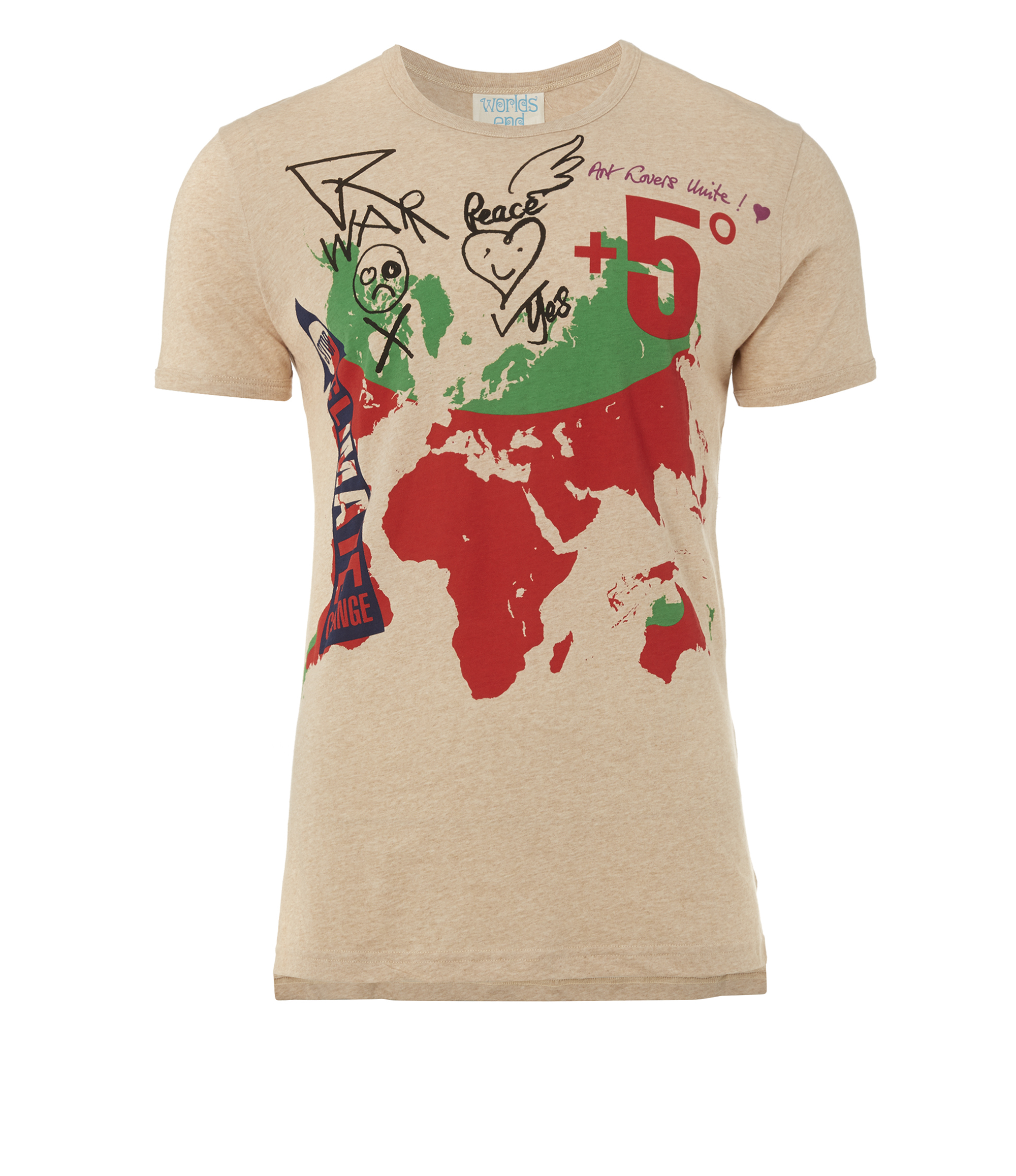 *Vivienne Westwood*WORLD MAP ユニセックス Tシャツ