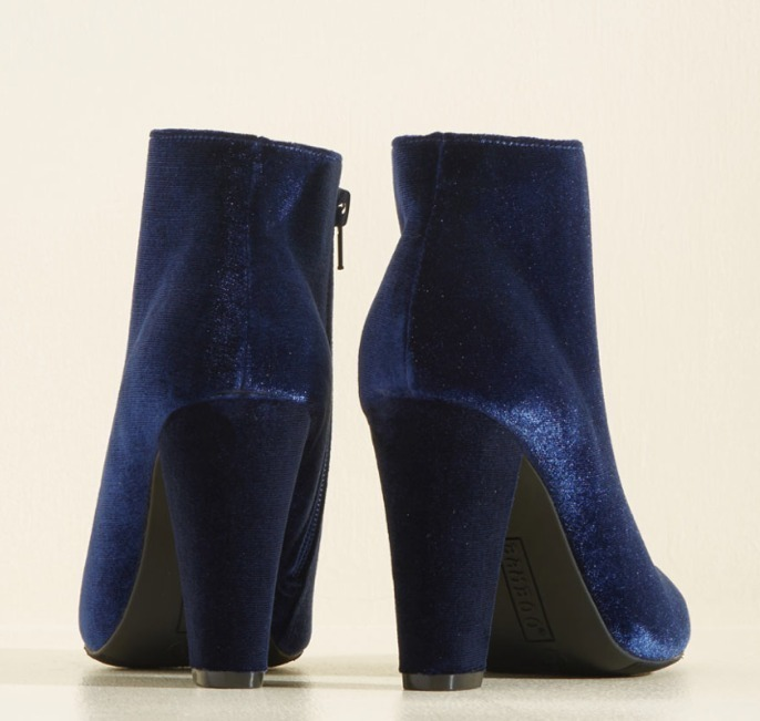 Modcloth★Edit Velvet In Bootie*ベルベットブーティー