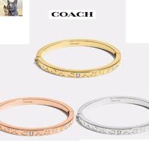 Coach/pave hinged metalバングル