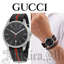 ★NEW★GUCCI G-Timeless Black Dial Mens Watch YA126321