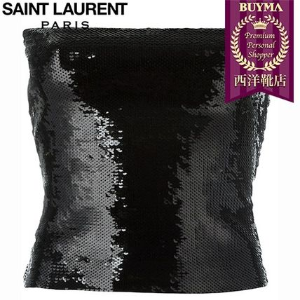 16/17秋冬入荷!┃SAINT LAURENT┃SEQUIN EMBELLISHED BOOB TUBE