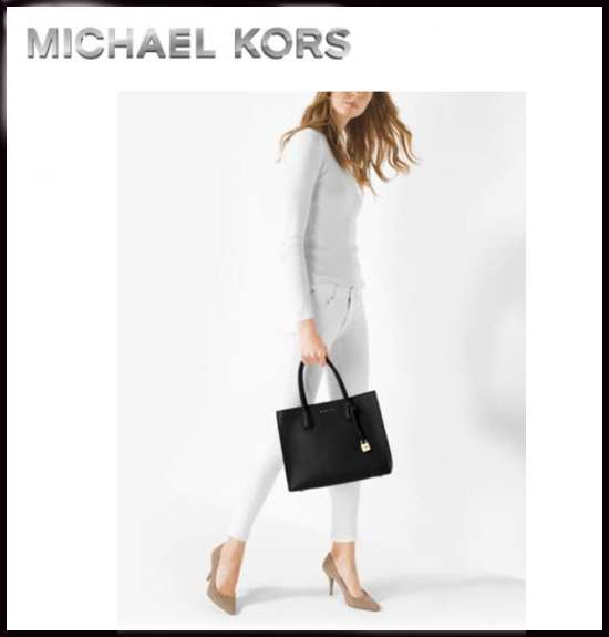 MICHAEL KORS★MERCER LARGE BONDED-LEATHER TOTE 国内発送!