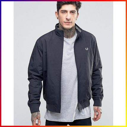 Fred Perry Harrington Jacket In Navy 関税/送料込