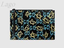 GUCCI♪メンズGucciGhostクラッチ♪445597 DS1AT 8438♪