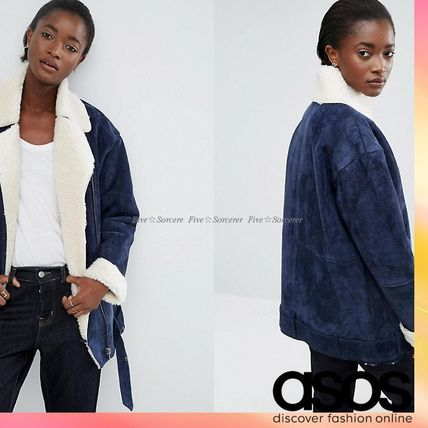 ASOS suede by car jacket * lining with