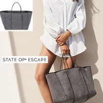 【State of Escape】ESCAPE bag in LUXE charcoal marle(大)