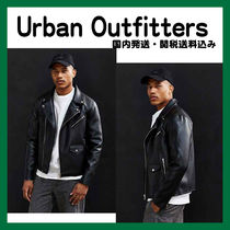 Urban Outfitters(アーバンアウトフィッターズ) レザージャケット Urban outfitters フェイクレザーモトジャケット新作 国内発送