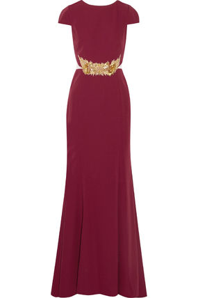 """""""MIKAEL AGHAL""""Embellished tulle paneled dress"""
