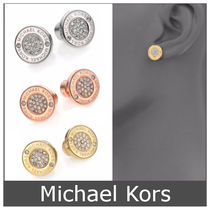 Michael Kors◇Heritage Plaque Pave ロゴ スタッズ ピアス