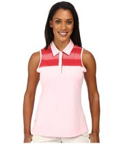 大人気!Melange Stripe Sleeveless Polo ポロシャツ